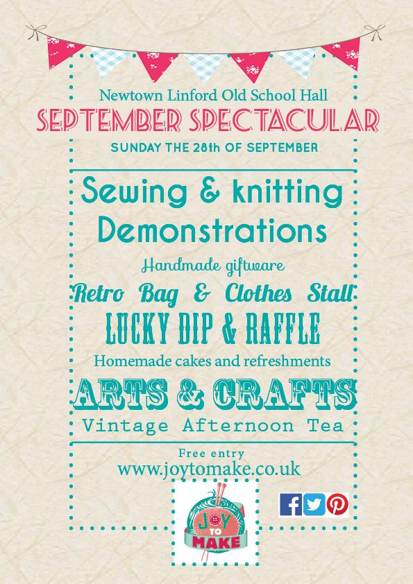 Joy to make craft fair September 2014