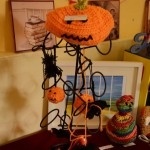 crochet pumpkin tea cosy