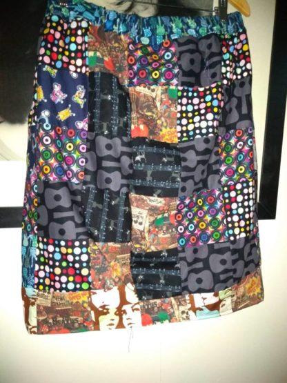 patchwork 1960's vintage skirt