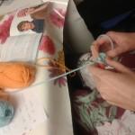 crocheting a beanie