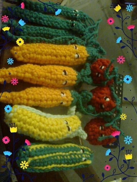 crochet wonky vegetables